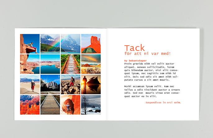 Fotoquick hälsningskort som marknadsföring