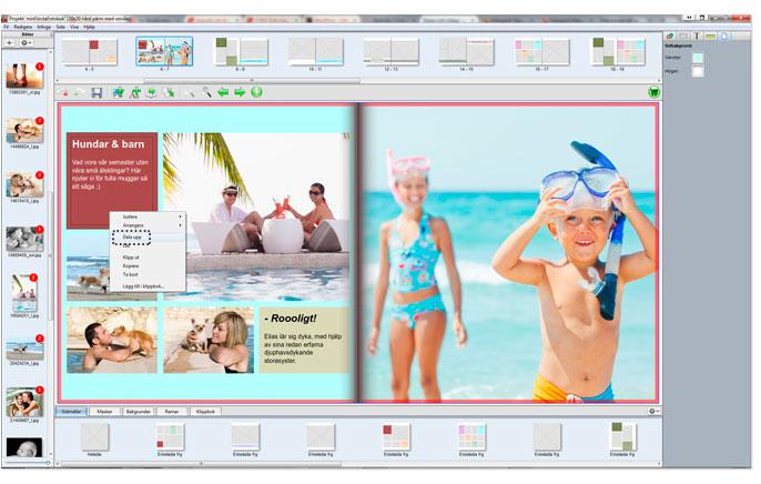 Färger Layout Fotobok