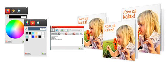 Färger, layout & hälsningskort